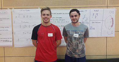 Neue Jugendtrainer Valentin und Joscha